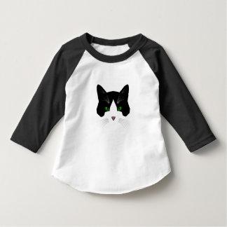 Bat cat toddler's baseball shirt
