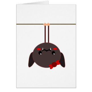 bat on a wire vampire greeting card