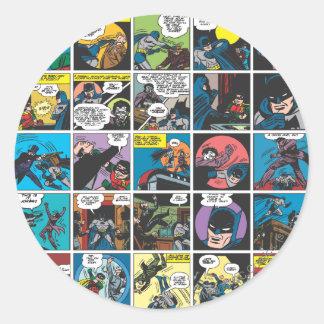 Batman Comic Panel 5x5 Round Sticker