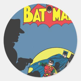 Batman Comic - with Robin Round Sticker