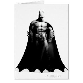 Batman Front View B/W Greeting Card