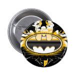 Batman Logo with Cars 6 Cm Round Badge