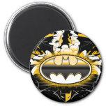Batman Logo with Cars 6 Cm Round Magnet