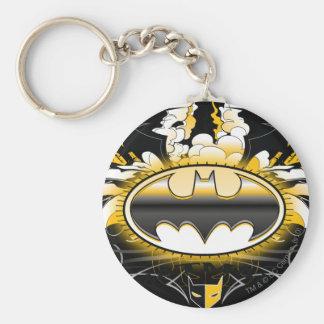 Batman Logo with Cars Basic Round Button Key Ring