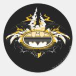 Batman Logo with Cars Round Sticker