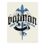 Batman | Name with Sword Logo Postcard