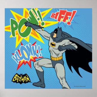 Batman Punching Graphic Poster