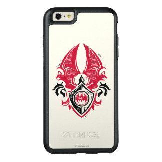 Batman Symbol | Red Black Bat Stamp Crest Logo OtterBox iPhone 6/6s Plus Case