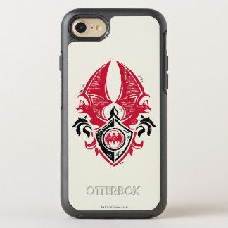 Batman Symbol | Red Black Bat Stamp Crest Logo OtterBox Symmetry iPhone 7 Case