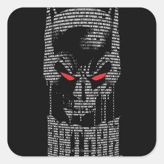 Batman With Mantra Square Sticker