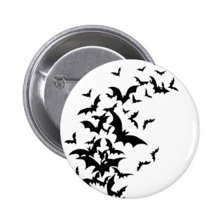 Bats on White 6 Cm Round Badge