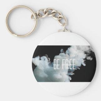 Be free basic round button key ring
