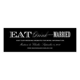 & BE MARRIED | WEDDING WEBSITE CARDS PACK OF SKINNY BUSINESS CARDS