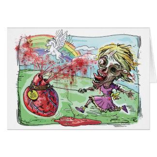 Be Mine Zombie Valentine Greeting Card