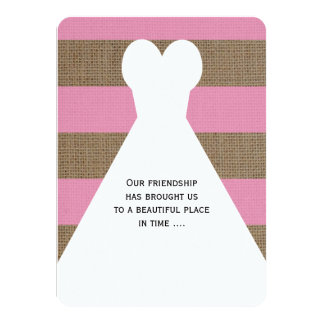 Be My Maid of Honor Poem on Pink 11 Cm X 16 Cm Invitation Card