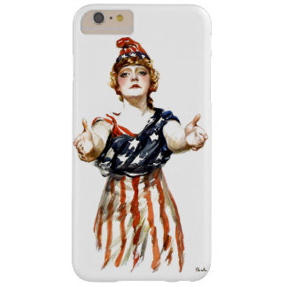 """Be Patriotic"" WWI Lady Liberty Barely There iPhone 6 Plus Case"