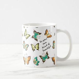 Be Your Own Beautiful Butterflies Basic White Mug