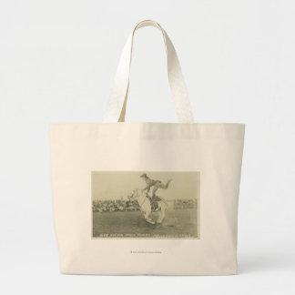 Bea Kirnan trick riding. Jumbo Tote Bag