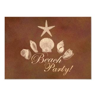 Beach 11 Cm X 16 Cm Invitation Card