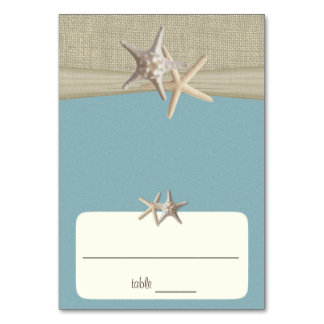 Beach Amore' Blue Seating Card Table Card