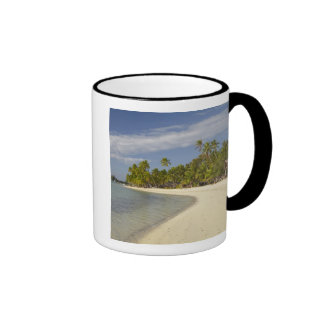 Beach and palm trees, Plantation Island Resort 2 Ringer Mug