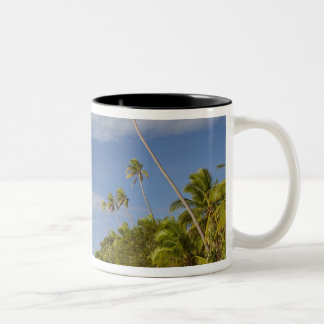Beach and palm trees, Plantation Island Resort Two-Tone Mug