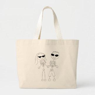 Beach Wedding Couple Jumbo Tote Bag