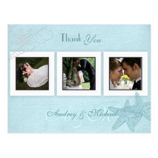 Beach Wedding Photos Thank you postcards