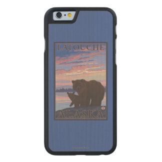 Bear and Cub - Latouche, Alaska Carved® Maple iPhone 6 Case