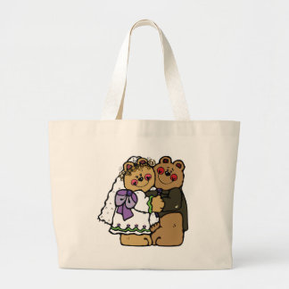 Bear Bride and Bear Groom Jumbo Tote Bag