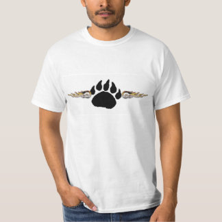 Bear Paw With Flames (Value Tee) T Shirt