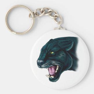 Beautiful Black Panther Basic Round Button Key Ring
