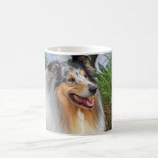 Beautiful Collie dog blue merle mug, gift Basic White Mug