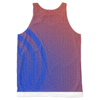 beautiful colot=rful concentric circles blls eye All-Over print tank top
