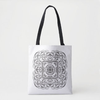 Beautiful Decorative  Square Doodle 2 Tote Bag