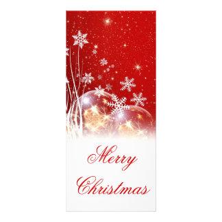 "Beautiful festive ""Merry Christmas"" illustration Rack Card"