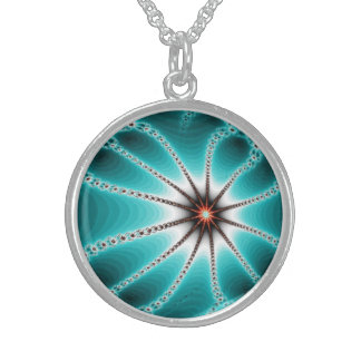 Beautiful fractal round necklace