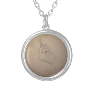 Beautiful hand drawn snapple idea round pendant necklace