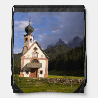 Beautiful isolated lonely church called Rainui Drawstring Backpack