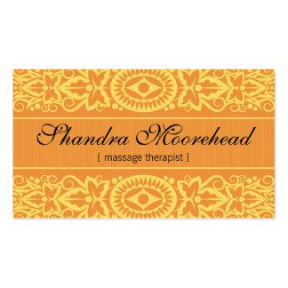 Beautiful Mango Massage Therapist Business Card