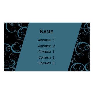 Beautiful modern curls design pack of standard business cards