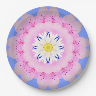 Beautiful Pink Flowers  Paper Plates-9 9 Inch Paper Plate