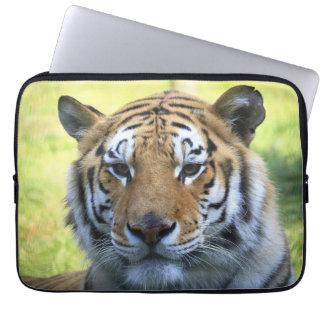 Beautiful tiger portrait laptop computer sleeves