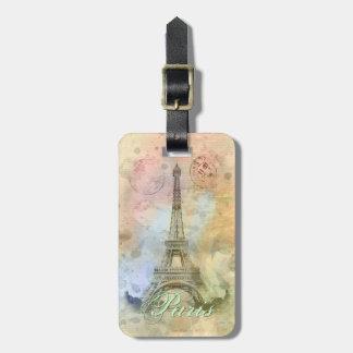 Beautiful trendy girly vintage Eiffel Tower France Bag Tags