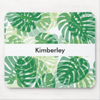 Beautiful Tropical Palm Leaves Mouse Pad