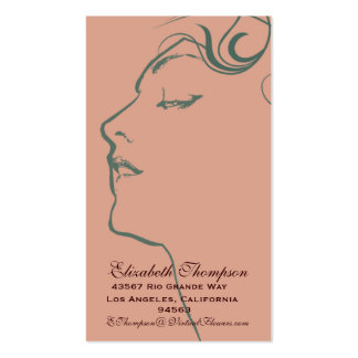 Beautiful Woman Business or Name Card Pack Of Standard Business Cards