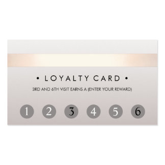 Beauty Salon 6 Punch Customer Loyalty Card Pack Of Standard Business Cards