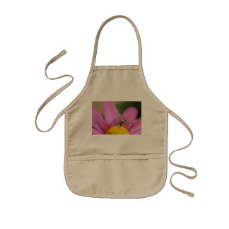 Bee Pollinating Flower Kids Apron