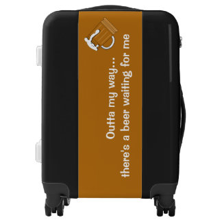Beer humor luggage