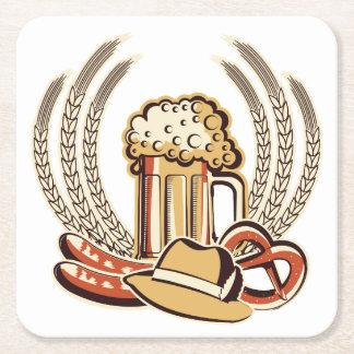 Beer Oktoberfest Graphic Square Paper Coaster